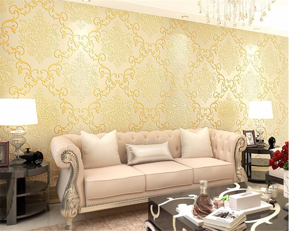 Beibehang European Style 3D Relief Floral Luxury Damascus 3D Wallpaper Living Room Bedroom TV Background Wallpaper Roll behang beibehang 3d high quality continental relief wallpaper high living living room bedroom 3d wallpaper tv background wallpaper roll