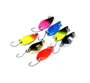 Image 4 - JTLURE 7 unids/lote 5g cuchara de pesca salmón, trucha, Señuelos de metal, señuelo de pesca invierno