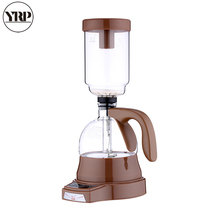 YRP Electric Japanese Style Coffee Siphon Maker 3 cups Syphon Glass Pot Household Vacuum Filter Coffee maker Percolator Tools akira halogen beam heater syphon coffee maker heater siphon coffee maker tool vacuum coffee pot beam heater with high quality