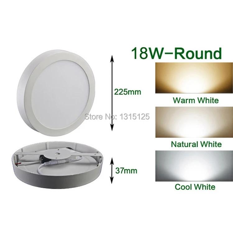 18W Surface Rounded LED Panel Ceiling Cool White Light Lighting 225*225mm UKED