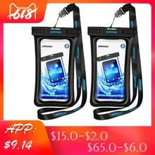 2 Pcs Swimming Bags Waterproof IPX8 Underwater Phone Case for iPhone Huawei Xiaomi Waterproof Smart Phone Pouch Bag Diving Bags