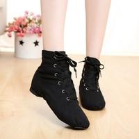 Cheap New Men Women Fashion Sports Dancing Sneakers Jazz Dance Shoes Lace Up Dancing Boots Blue