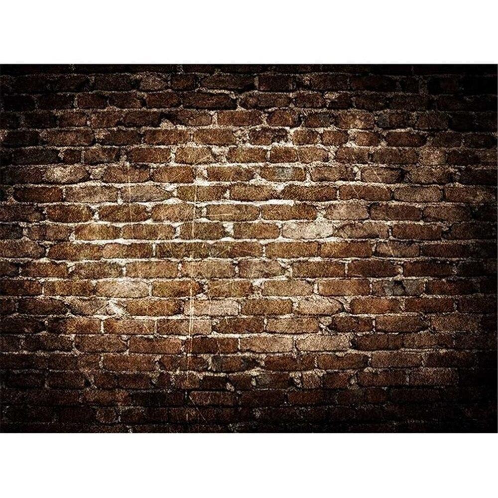 Retro Vintage Brown Brick Wall Backdrops Kids