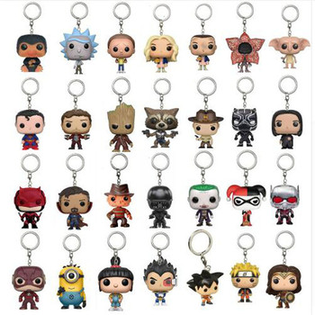 2018 New  Toys Keychain Captain America Iron Man Groot Key Ring Kids Wonder Women Key Chain Bag Pendant Jewelry