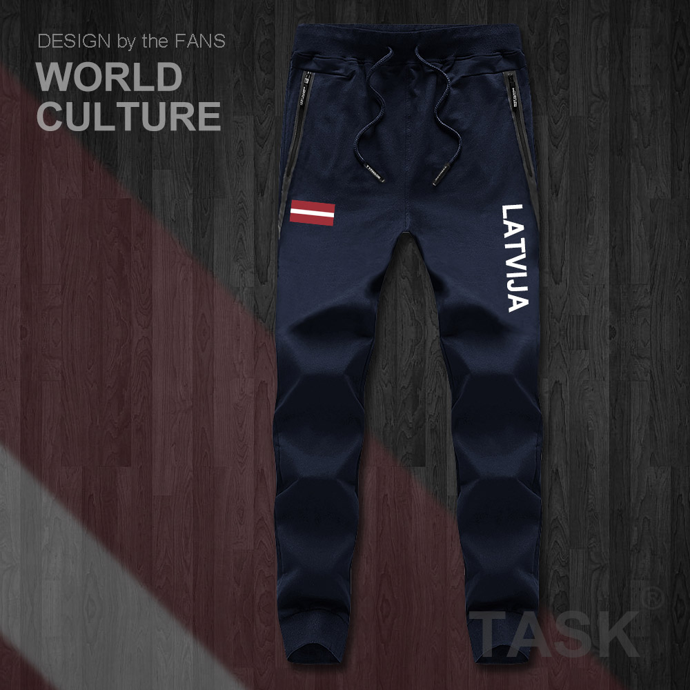 Latvia Latvija Latvian LVA LV Latvijas Mens Pants Joggers Jumpsuit Sweatpants Track Sweat Fitness Fleece Tactical Casual Nation