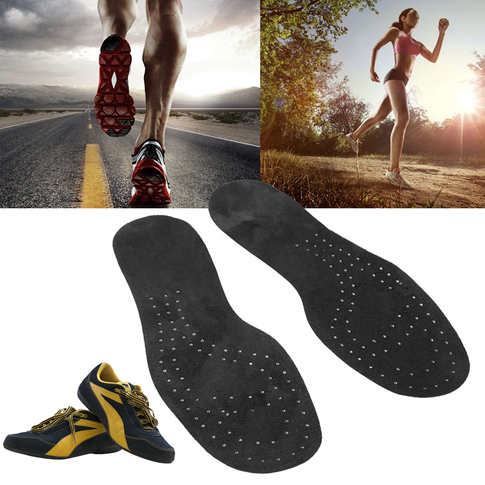 Silicone Shoes Insoles Sports Running Shock-Absorbing Feet Ankle Protector Unisex Shoes Pads Foot Care Shoe Insert Cushion Black