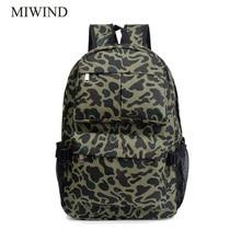 Miwind Для женщин рюкзак холст Рюкзаки softback Сумки Производитель сумка модные камуфляжные Meninas рюкзак WUB0018