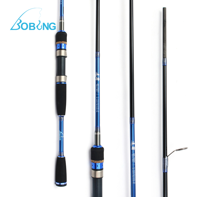 Bobing Lure Fishing Rod 2.1m 3 Sections M ML Carbon Fiber Pole 28-227g Lure 6-16lb Line Spinning Casting Rod Sturdy Reel Seat