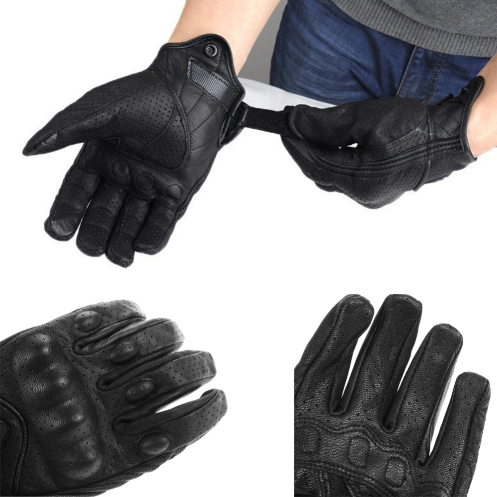 Motorcycle gloves in nepal - Finger Riding Protective Armor Black Short Leather Aliexpress Com Buy Men Motorcycle Gloves Outdoor Sports Full