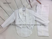 5 Pieces Cotton Kids Clothes Gentleman Wedding Clothes Kids Clothes Infant Formal Suits Children Baby Boy Clothing Sets