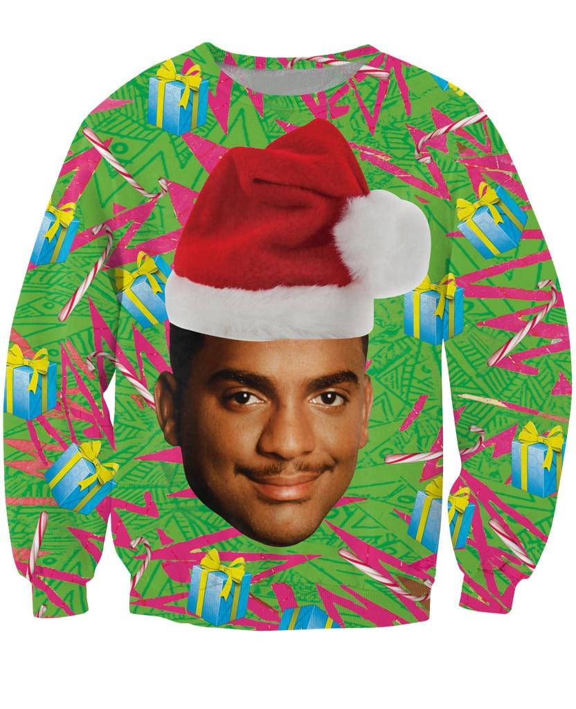 Fashion Clothing Carlton Swetshirt Fresh Prince of Bel-Air Christmas design Alfonso Ribeiro Crewneck Jumper Women/Men