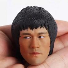 Custom Bruce Lee 1/6 Male Head Sculpt For 12 Phicen Figure Body Game of Death