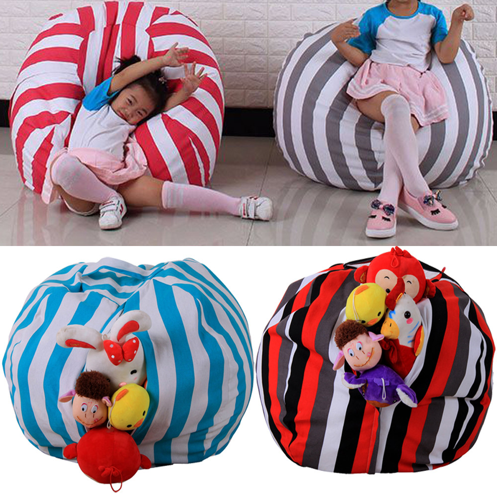 Cute Animal Collapsible Toy Storage Organizer Folding: Modern Creative Storage Stuffed Animal Storage Bean Bag