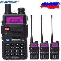 4pcs Baofeng UV 5R Walkie Talkie 5W 128CH Dual Band VHF UHF 136 174 400 520MHz