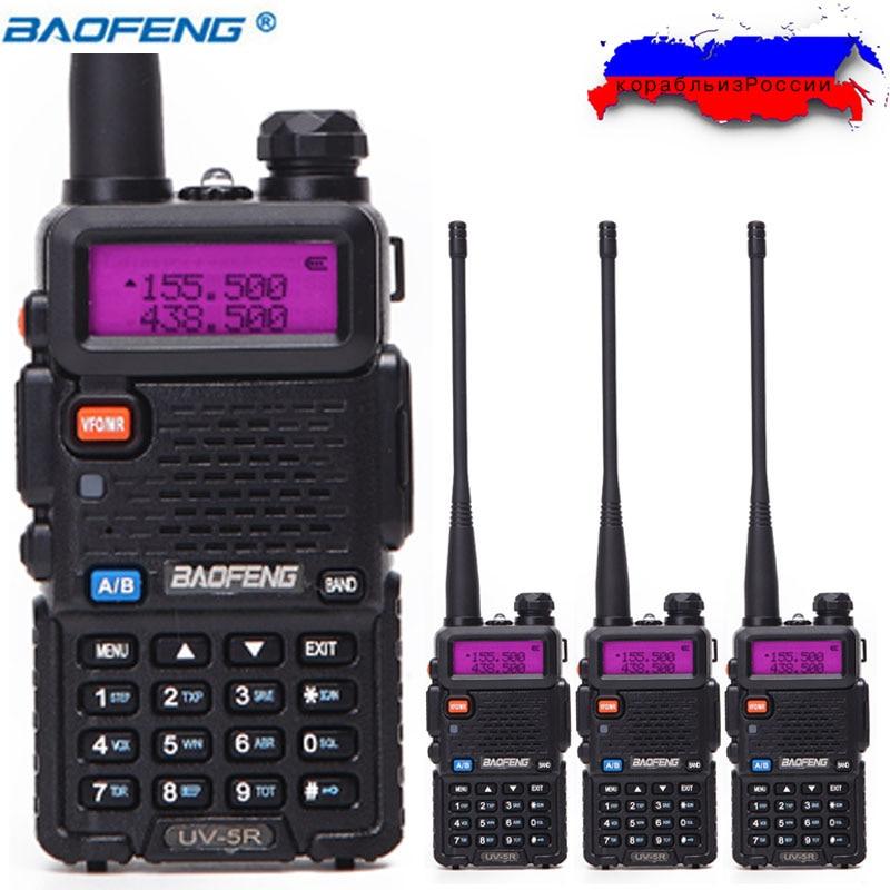 4 stücke Baofeng UV-5R Walkie talkie 5 Watt 128CH Dualband VHF & UHF 136-174 & 400-520 MHz Zweiwegradio UV5R Jagd Ham Radio UV 5R