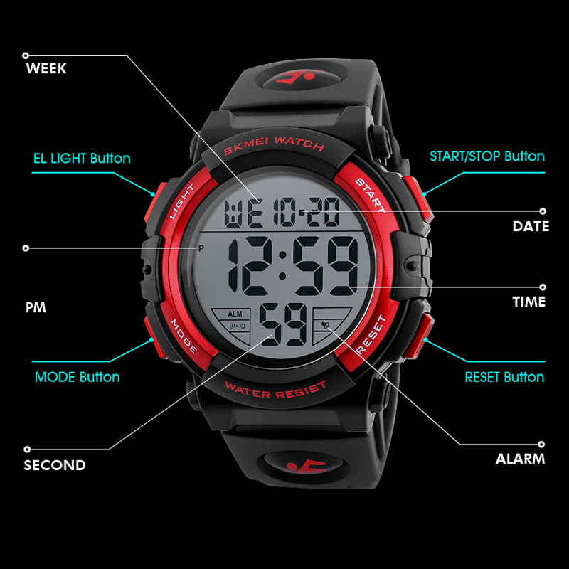 SKMEI Men Watch 2018 Top Luxury Brand Sport Watch Electronic Digital - Relojes para hombres - foto 6