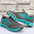 Men Shoes Outdoor Summer Healthy Elastic band EVA Breathable Stability PU stripe Comfortable Sports Running Shoes
