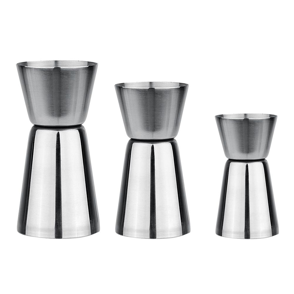 Stainless Steel Wine Cocktail Shaker Jigger Single Double Shot Drink Measure Cup