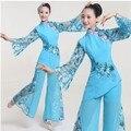 2015 nuevo Baile de Disfraces de trajes de teatro popular Nacional fan yangko danza clásica ropa de la danza del vestido del estilo chino