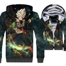 2019 winter hip-hop jacket 3D male Dragon Ball streetwear clothes casual zipper thicken jackets coats super Saiyan men tracksuit