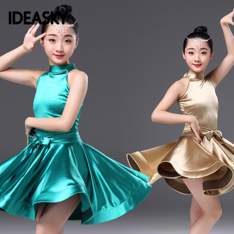 Latin Dance Dress Tango Salsa Ballroom Competition Practice  Skirt 3Colors 2019