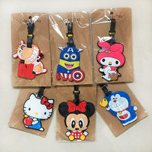 Women & Gils Cartoon Cute Travel Accessories Luggage Tags Suitcase Cartoon Style Cute Cat Fashion Silicon Portable Travel Label(China)