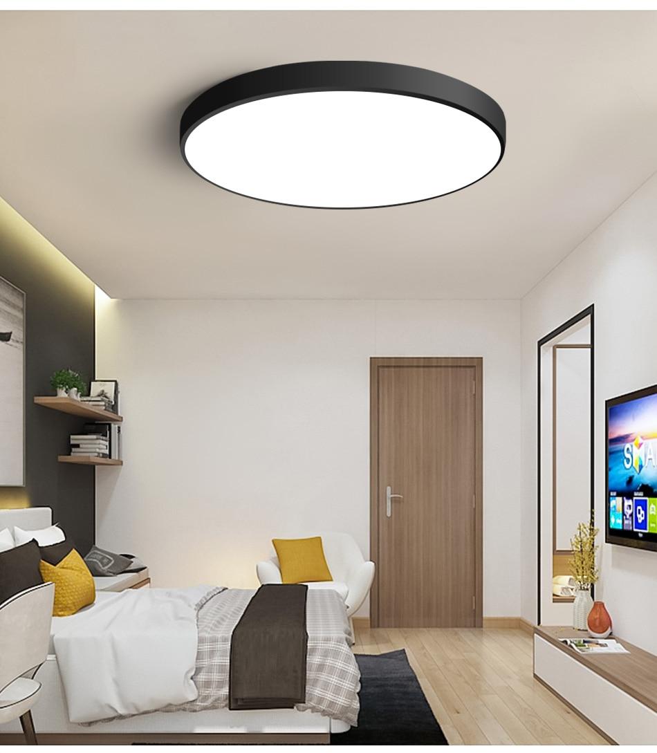 HTB19B5iaN rK1RkHFqDq6yJAFXaj LED Ceiling Light Modern Lamp Living Room Lighting Fixture Bedroom Kitchen Surface Mount Flush Panel Remote Control
