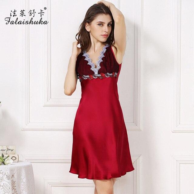 Mulher camisola 2019 rendas de seda longo de seda do casamento mais mulheres  nightgowns sleepshirts sensuais c173db37e