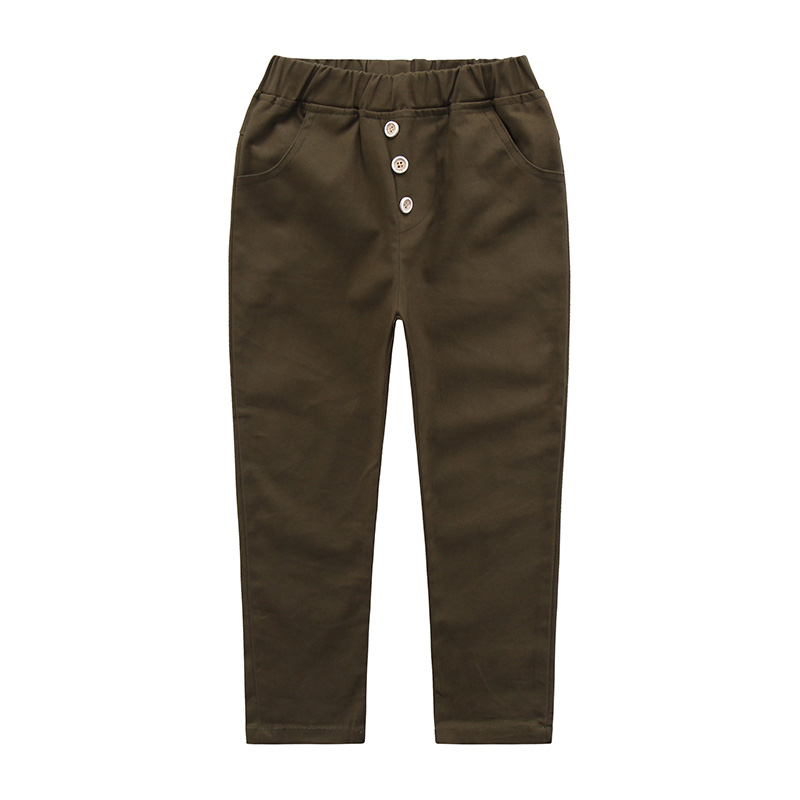 Kids Boys Pants Casual Black Kids Pants Boys Trousers 2018 New High Quality 3 Colors Teen Pencil Pants in Pants from Mother Kids