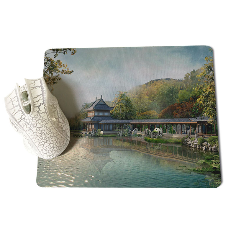 MaiYaCa The Land of Peach Blossoms Large Mouse pad PC Computer mat Size for 18x22x0.2cm Gaming Mousepads