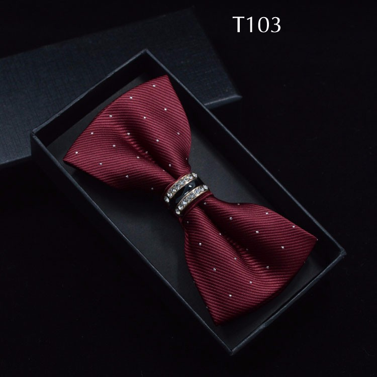 Tuxedo Metal Crystal Wedding Bow Tie Men Women Butterfly Knot Cravat Black Purple Blue Jujube Red Groom Party Banquet Meet Club 3