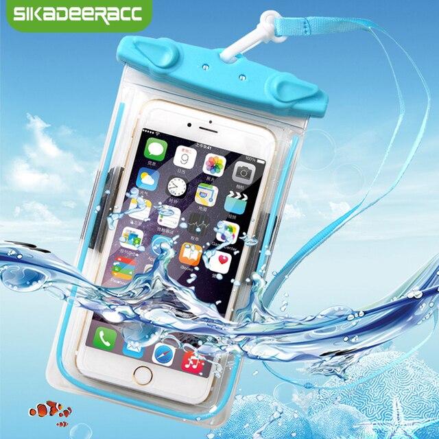 JK52 impermeable bolsa de teléfono para Samsung Galaxy S7 borde S8 más J5 J3 J7 teléfono móvil bajo el agua a prueba de agua 6,5 funda de bolsa