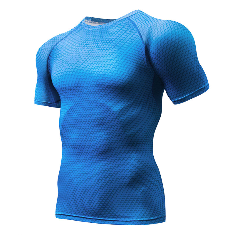 2019 NEW Men 39 s Sportswear Set Short Sleeve Sports Running Suit Men 39 s Suit Training Tights Tights Workout Shorts T Shirt in Running Sets from Sports amp Entertainment