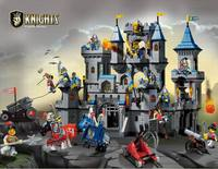 Building Block Set Enlighten 1023 Medieval Lion Castle Knight Carriage Model Bricks Toys For Children Compatible