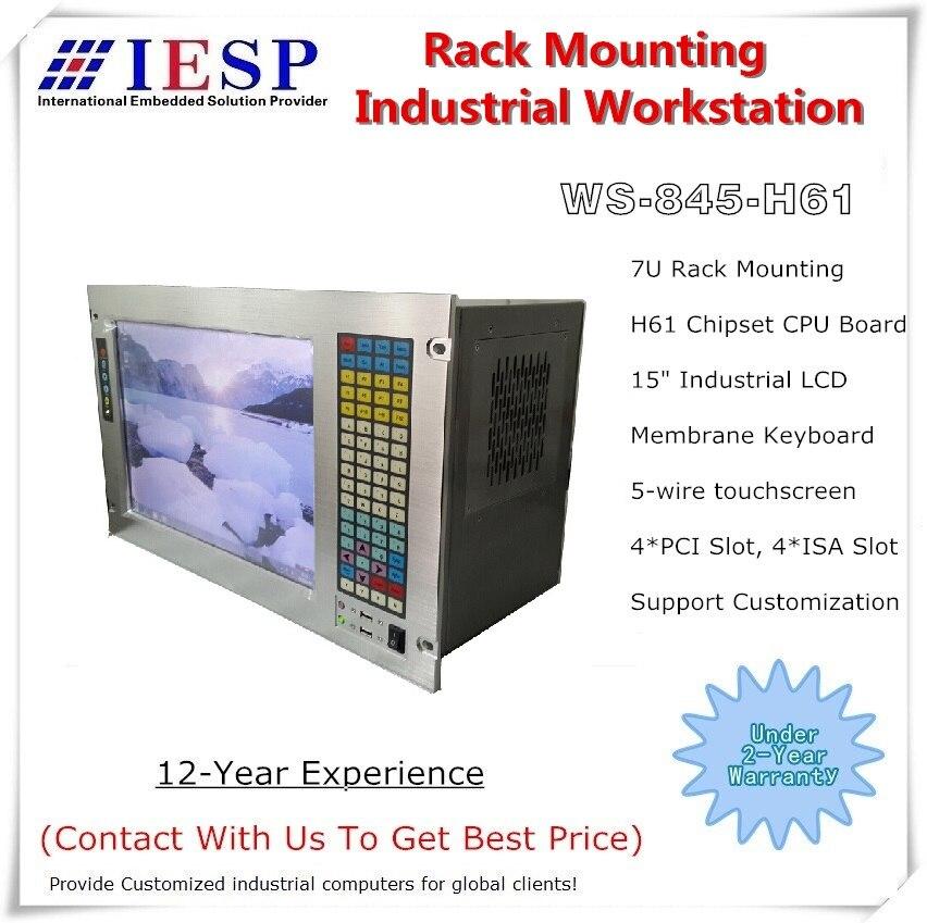 7U Rack Mount Industrial Computer, H61 Chipset, LGA1155 CPU,4*PCI, 4*ISA, Rack Mount Industrial Workstation, OEM/ODM