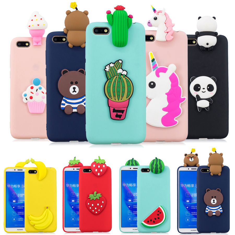 Y5(<font><b>2018</b></font>) Silicone cover on sFor <font><b>Fundas</b></font> <font><b>Huawei</b></font> Y5 Prime <font><b>2018</b></font> case Coque <font><b>Huawei</b></font> <font><b>Y</b></font> <font><b>5</b></font> Y5 <font><b>2018</b></font> case 3D Unicorn Panda Soft Phone cases image