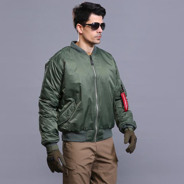 2016 nuevo y genial MA 1 ESDY tácticos chaqueta de bombardero de ambos lados of the American men de desgaste caliente impermeable a prueba de viento de la capa del algodón