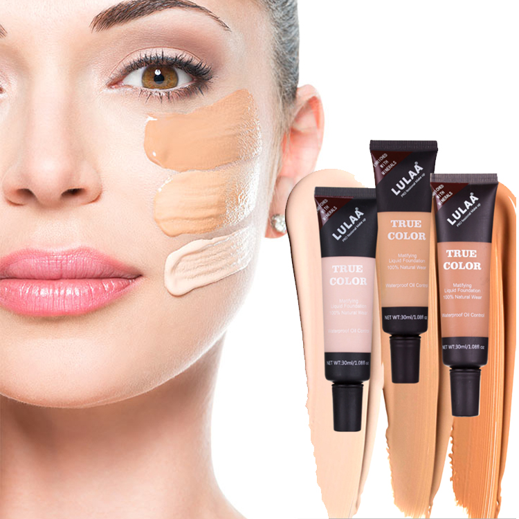 Face makeup concealer LULAA repair capacity makeup waterproof cover dark circles concealer waterproof repair liquid foundation