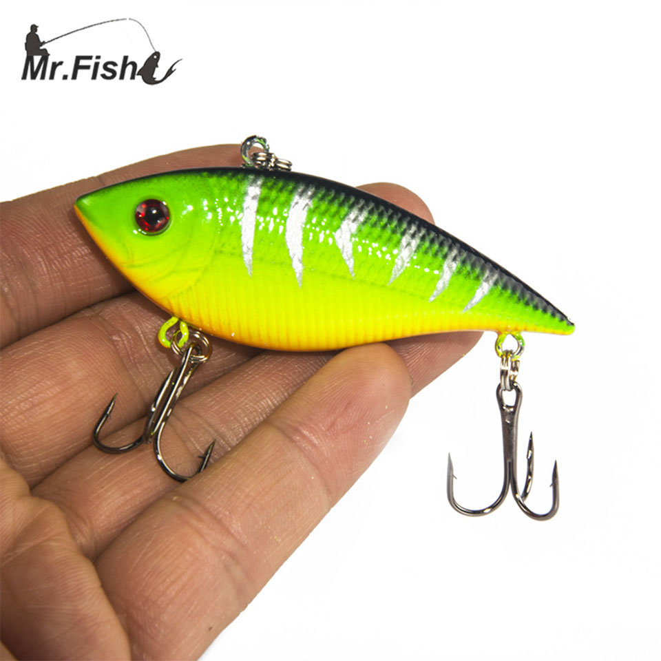 1PCS Winter Fishing Lures Hard Bait VIB With Lead Inside Lead Fish Ice Sea FishingTackle Swivel Jig Wobbler Lure compatible new fuser gear for hp 4250 4300 4350 rc1 3325 000 rc1 3324 000 10 pcs per lot