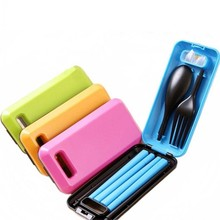 Portable Travel Kids Adult My Cutlery Fork Chopsticks Spoon Camping Picnic Set Gift for Child Kids