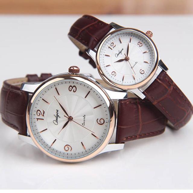 Onlyou amantes espelho japão movimento de quartzo relógio das mulheres dos homens relógios de pulso hardlex couro straps relógios à prova d' água 8856