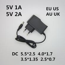 AC 100-240V DC конвертер адаптер 5В 1A 2A 3A EU US AU UK Штепсель для зарядки, переключение Питание Мощность адаптер различных DC Вилки