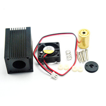 33x50mm Diy Aluminium heatsink Housing for 635nm 650nm 680nm 9mm Red Laser Diode TO-5 LD Dot Module w Glass Lens 635nm 638nm 700mw hl63193mg red laser diode ld to 18 multimode laser diode
