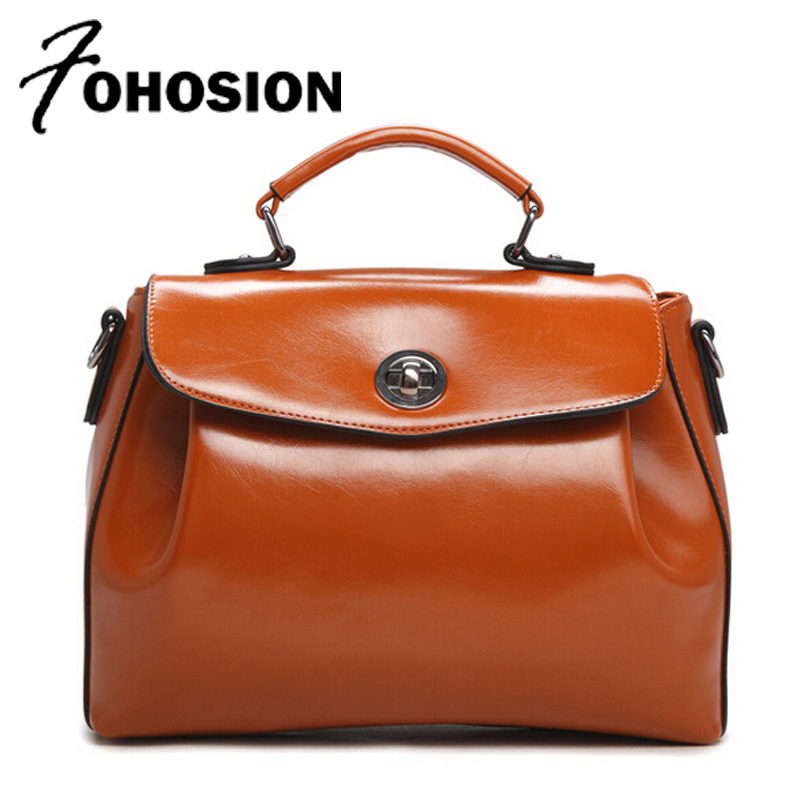 FOHOSION New Women handbags vintage Oil Waxing PU leather Ladies Shoulder Bag High Quality Messenger Crossbody Bags Bolsos Mujer new women leather bag handbags high quality women messenger bag casual shoulder bags women tote bag clutch ladies bolsos mujer