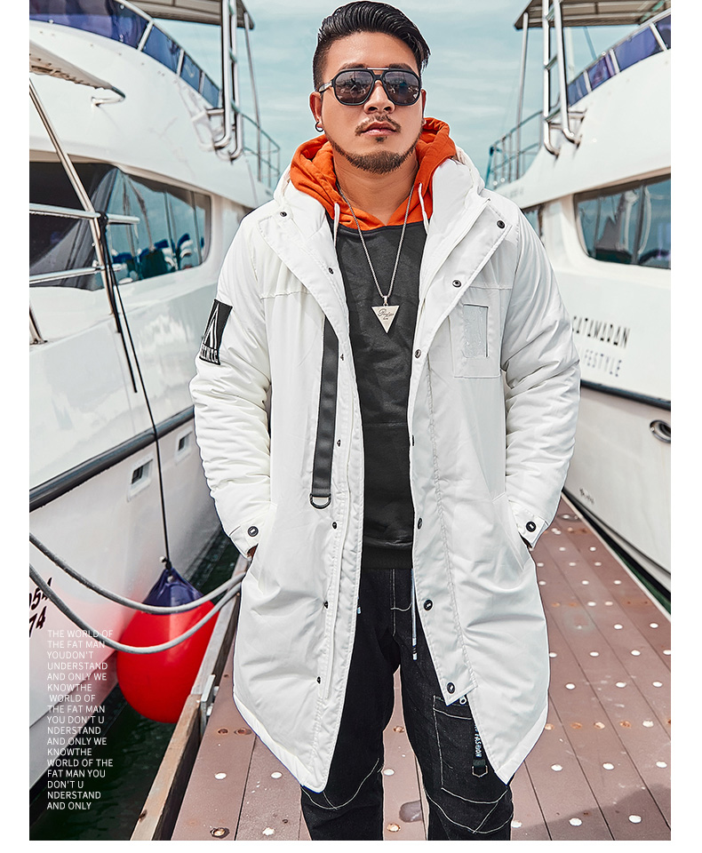 New Arrival Man's Winter Cotton Parkas Male Thick Warm Clothing Long Jacket Black White Plus Size Xxxxxxl 2xl 3xl 4xl 5xl 6xl
