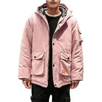 Thick Windproof Cold Jacket Winter Men Parka Hip Hop Puffer Warm Coat Men Hooded Cargo Mens Bubble Jacket Street Casaco Masculin