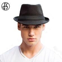 e386a1bf90aac FS moda de Hombre de lana de sombrero de ala ancha sombrero Sombreros de  Hombre Vintage fieltro invierno Sombrero de Panamá Jazz.