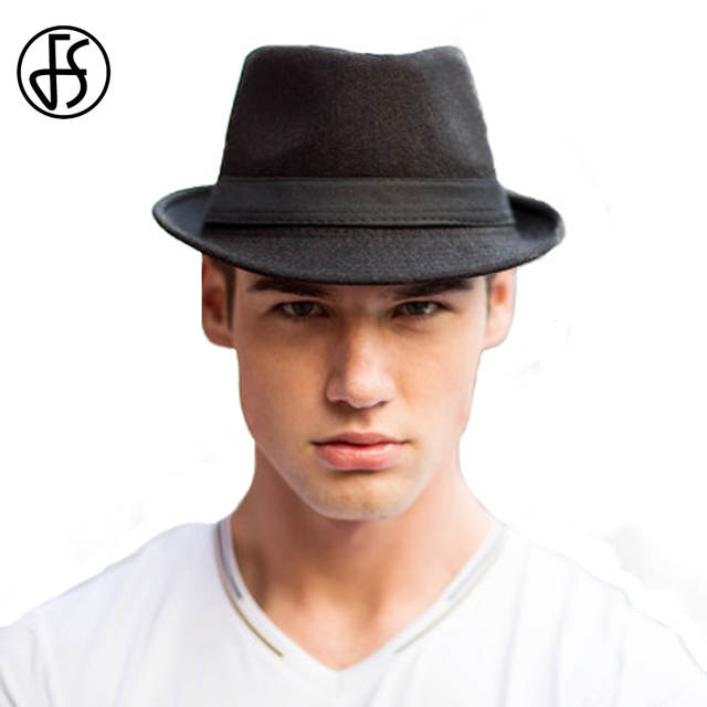 e145631007d FS Fashion Mens Wool Fedora Wide Brim Trilby Hats Male Felt Vintage Winter Panama  Hat Jazz