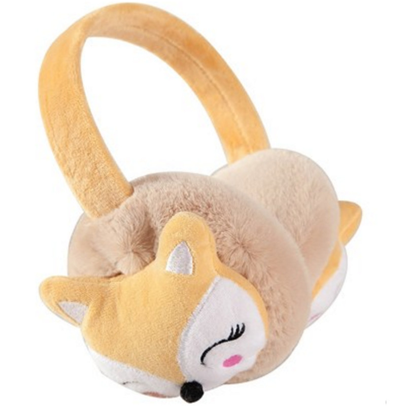 Fox New Child Ear Muffs Fashion Winter Lovely Thicken Plush Earmuffs High Quality Solid Color Kids Ear Warmer Thermoscan AD0689