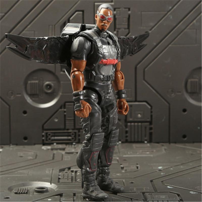 Marvel Мстители 3 Бесконечность войны фильм Аниме Супер Герои Капитан Америка, железный человек, Халк Тор супергерой Фигурки игрушки - Цвет: Falcon